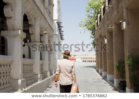desert scene in suitcase stock photo © bluering
