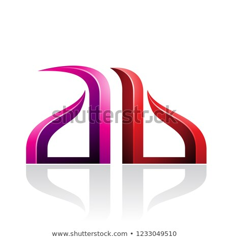 Magenta and Red Bow-like Embossed Letters of A and B Vector Illu Stock photo © cidepix