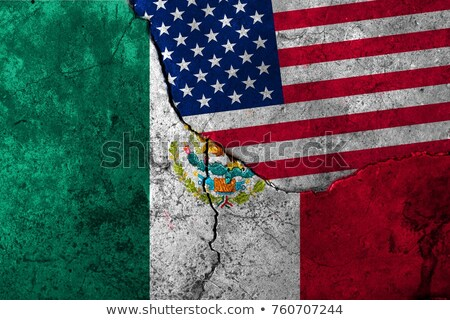 Mexico United States Border Concept Stock photo © Lightsource