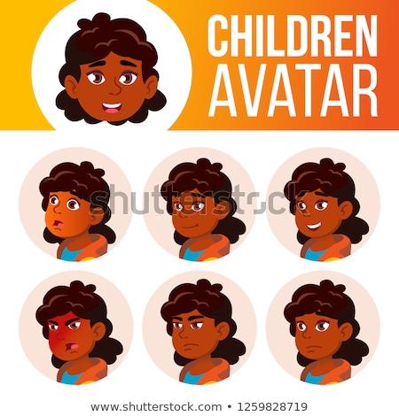 Menina avatar conjunto criança vetor escola primária Foto stock © pikepicture