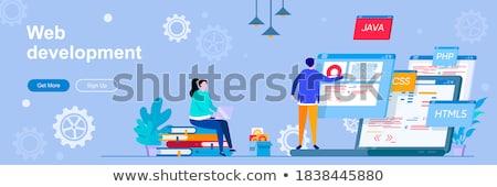 WEB development header or footer banner Stock photo © RAStudio