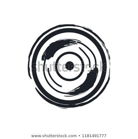 Disco rock simbolo illustrazione icona Foto d'archivio © robuart