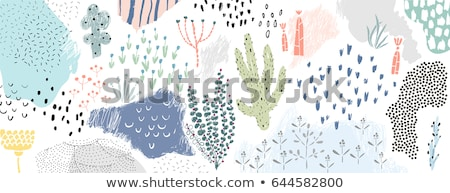 cover design with floral pattern hand drawn creative flowers colorful artistic background with blo stock photo © user_10144511