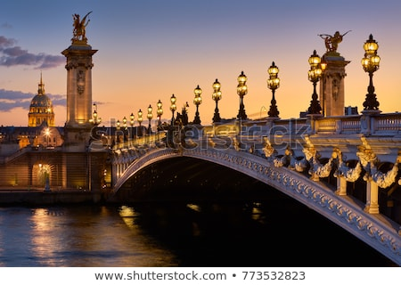 köprü · Paris · Fransa · gece · Bina · seyahat - stok fotoğraf © boggy