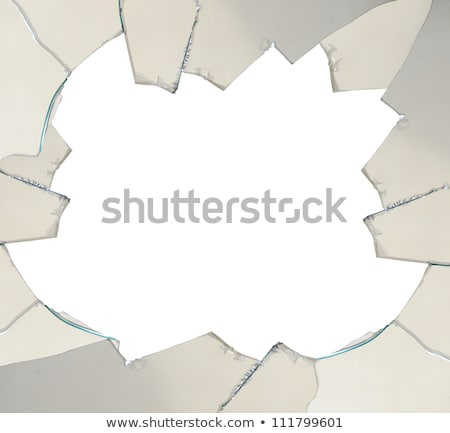 Square window with broken glass Stock photo © colematt