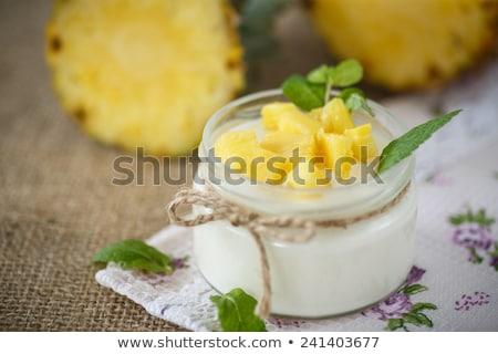 Kunyhó ananász túró sivatag gyümölcs farm Stock fotó © tycoon