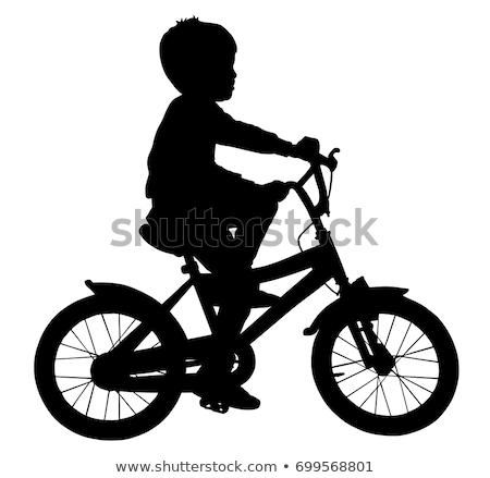 都市 男の子 ライディング 自転車 白 実例 ストックフォト © colematt