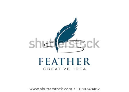 Shield with blue pen and accounting Stock photo © Ustofre9