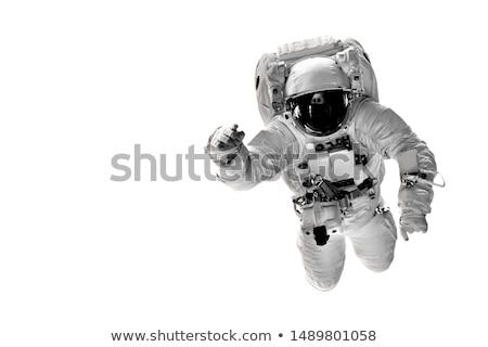 Vaisseau spatial battant lune illustration paysage fond Photo stock © colematt