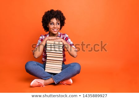 full length photo of african american students wearing backpacks stock photo © deandrobot