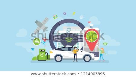 Autó leszállás oldal üzletasszony szív technológia Stock fotó © RAStudio