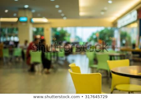 Chef fastfood restaurant mensen beroep koken man Stockfoto © dolgachov