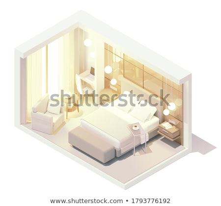 mur · porte · porte · ouverte · façon · maison · maison - photo stock © tele52
