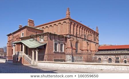 старые синагога Краков закат синий путешествия Сток-фото © benkrut