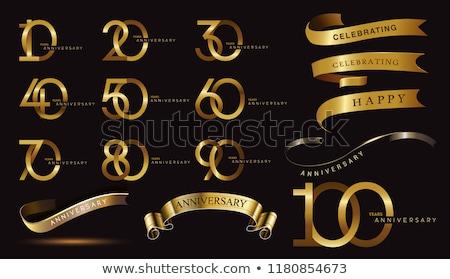 anniversary logotype labels set design Stock photo © SArts