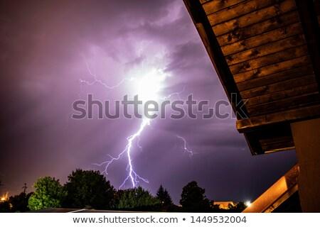 Severe Thunderstorm with lightning over the Residential area at Putrajaya, Kuala Lumpur Foto stock © galitskaya