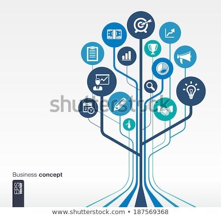 üzleti stratégia cél nyíl modern terv háló Stock fotó © makyzz