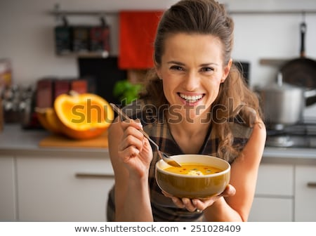 Stock photo: Eating soup