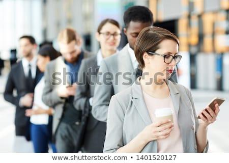キュー 小さな 待って 女性 ストックフォト © pressmaster