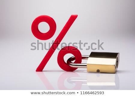 Percentage Sign Locked With Keypad Lock Stock photo © AndreyPopov