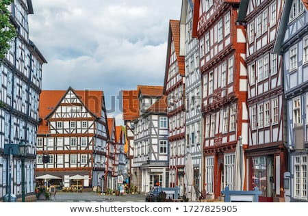 downtown of melsungen germany stock photo © borisb17