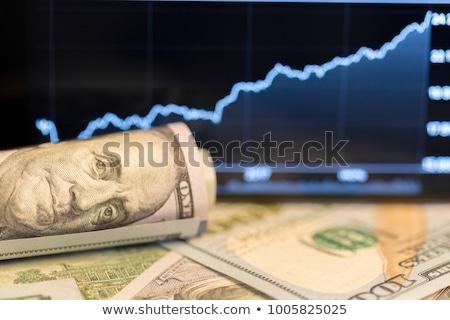 Stok fotoğraf: Dolar · ahşap · çanak · beyaz · kâğıt