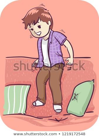 Kid Boy Inability To Sit Still Illustration Stock photo © lenm