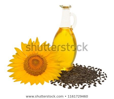 Tournesol agricole usine tête pétrolières semences Photo stock © LoopAll