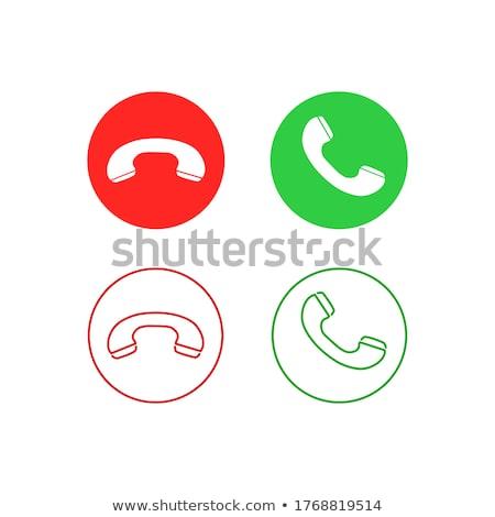 Zielone czerwony ikona przycisk sylwetki Zdjęcia stock © ussr