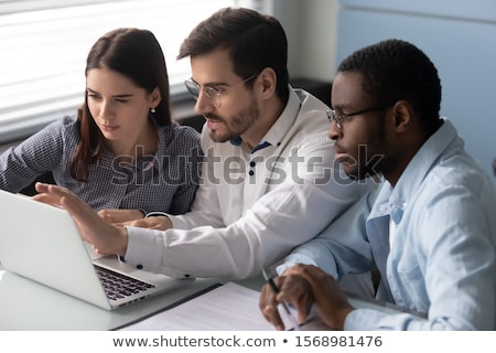 business people and coworker colleagues discussing explanations  Stock photo © snowing