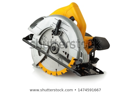 Stock photo: new circles for a power saw