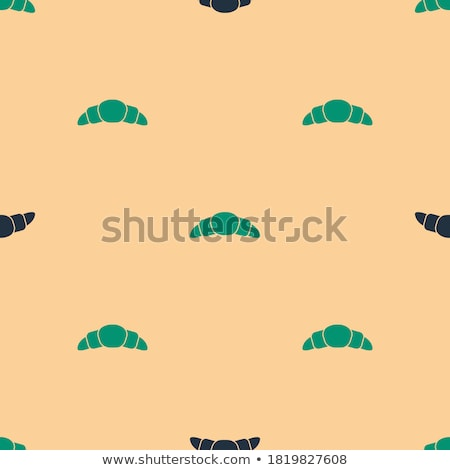 Stockfoto: Black Croissant Icon Isolated On A Beige Background Vector Illus