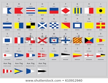 Uluslararası sinyal deniz bayraklar alfabe su Stok fotoğraf © ukasz_hampel