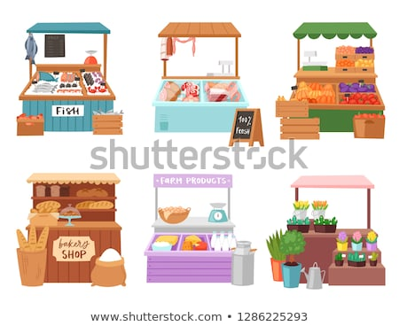 Cafe Shop, Seller by Counter Selling Products Stock photo © robuart