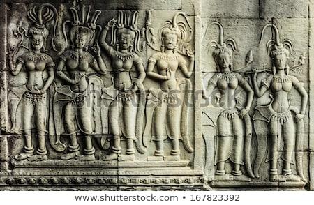 Ангкор-Ват женщины храма Ангкор Камбоджа каменные Сток-фото © lichtmeister