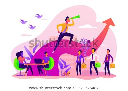 Succès réalisation vecteur métaphore carrière aspiration Photo stock © RAStudio