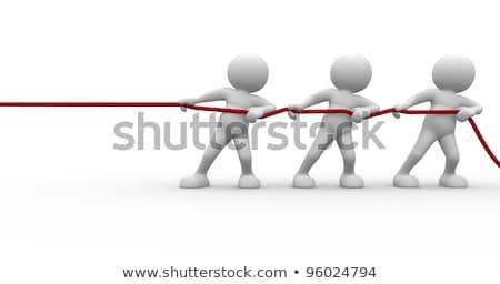 3d man touw illustratie geïsoleerd witte Stockfoto © 3dmask