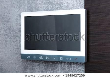 ストックフォト: グレー · 壁 · アパート · ホーム · 技術 · 電気