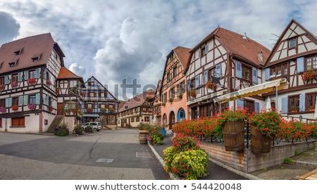 Markt vierkante Frankrijk historisch huizen la Stockfoto © borisb17