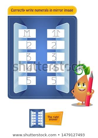 ír számjegyek tükör kép oktatási játék Stock fotó © Olena