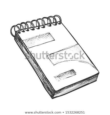czarny · notatnika · otwarte · odizolowany · biały · biuro - zdjęcia stock © pikepicture