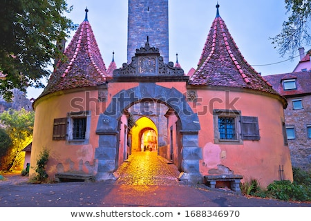 fő- · bejárat · kapu · kastély · épület · utazás - stock fotó © xbrchx