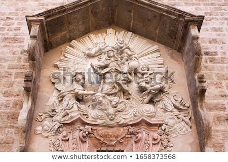 Templom Valencia Spanyolország fő- homlokzat porta Stock fotó © borisb17