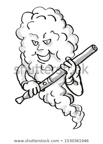 Vape Mascot Holding Electronic Cigarette Tattoo Stock photo © patrimonio
