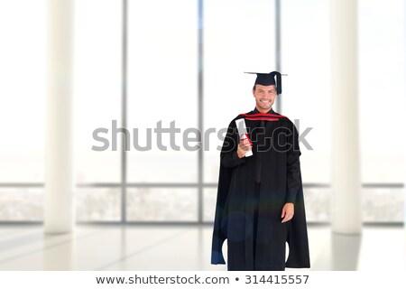 Frente vista feliz caucásico nino graduación Foto stock © wavebreak_media
