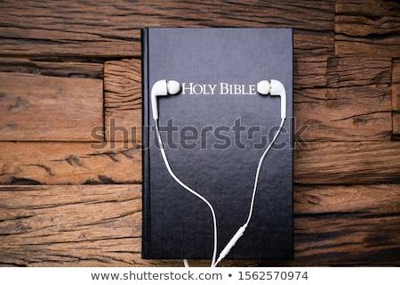 Słuchawki Biblii powierzchnia święty Zdjęcia stock © AndreyPopov