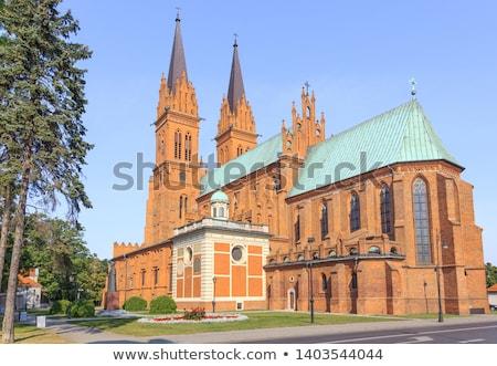 Basiliek kathedraal onderstelling huis stad zonsondergang Stockfoto © benkrut