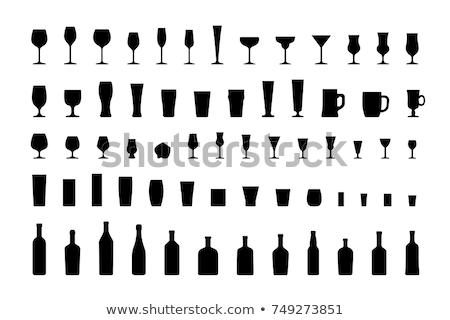 Gafas vodka ruso oro blanco alcohol Foto stock © nomadsoul1