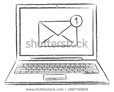Sturen mail sleutel Stockfoto © nomadsoul1