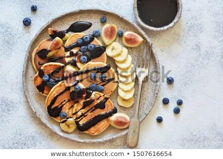 Photo stock: Préparé · banane · bleuets · peu · profond